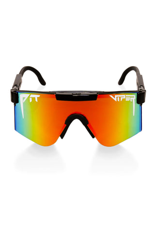 Black mirrored pit viper sunglasses