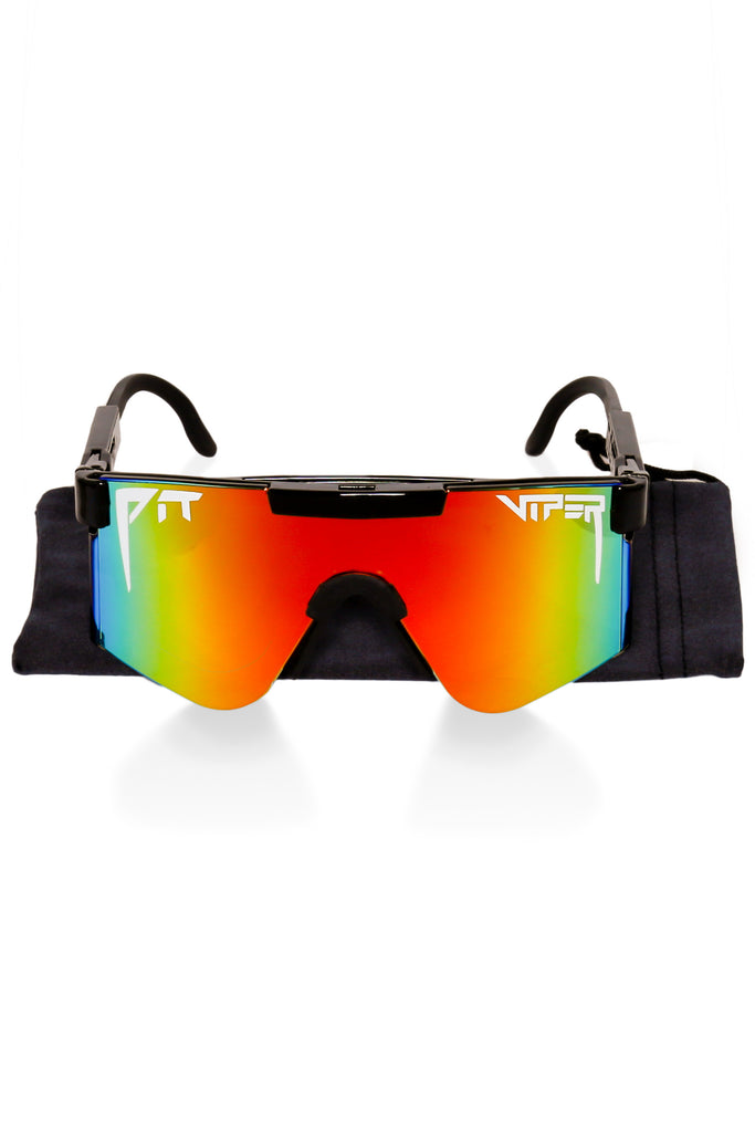 Black polarized pit viper sunglasses