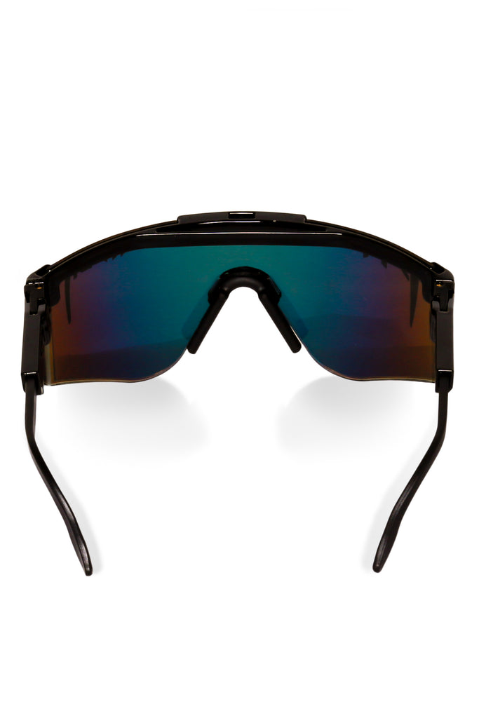 Mirrored black pit viper sunglasses