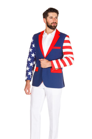 Men's american flag suit jacket