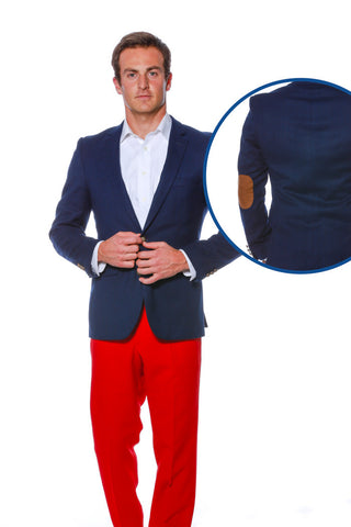 Men's American flag blazer with elbow pads
