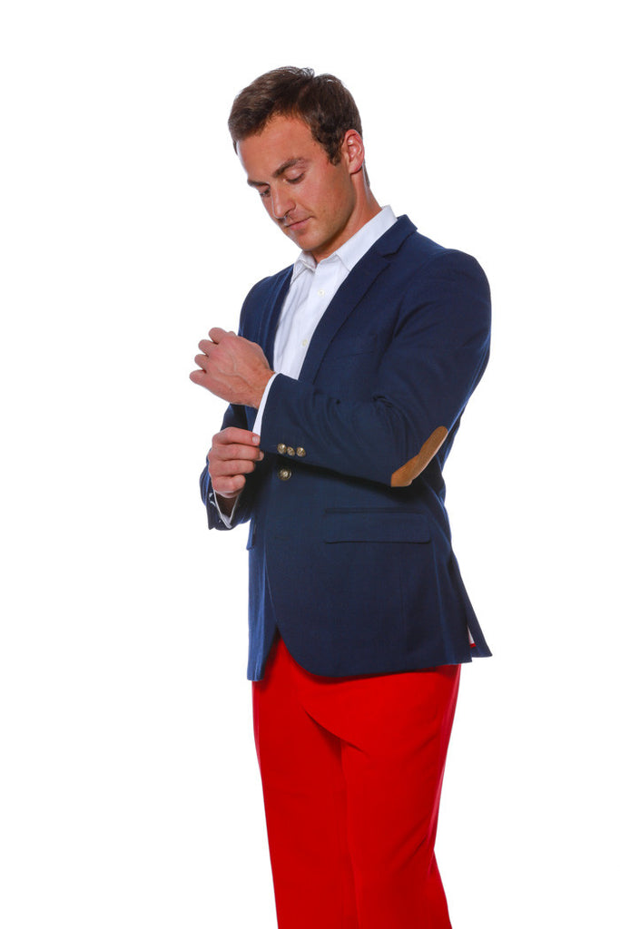 Wooly Winter Madison American Flag Blazer with Elbow Pads