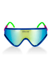 The Boatercycle | Blue and Gold Mirrored Macho Polarized Sunglasses