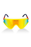 The Hot Tub Club | Yellow and Red Mirrored Macho Polarized Sunglasses