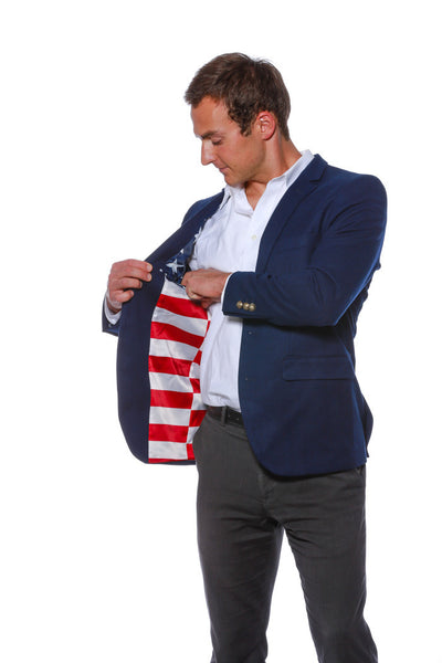 Wooly Winter Madison American Flag Blazer - Shinesty