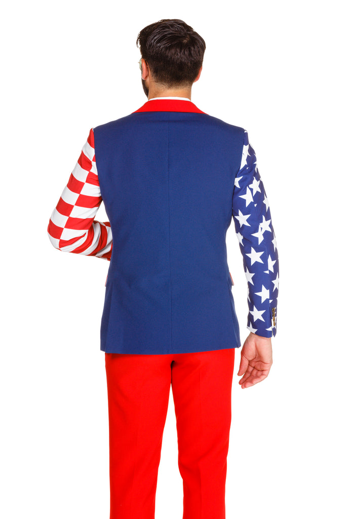 The Subtle Savage American Flag Party suit