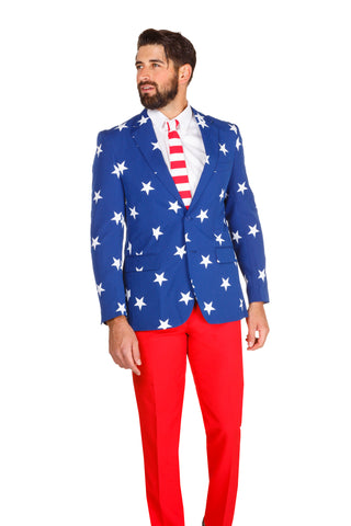 The 'Merican Gentleman American Flag Blazer by Opposuits