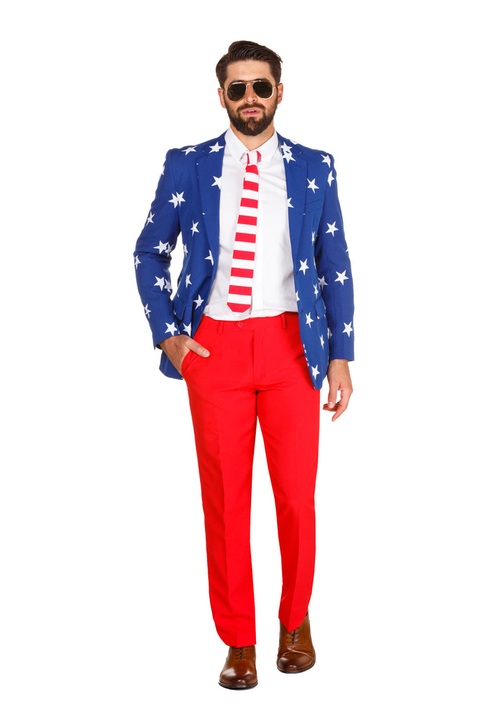 The 'Merican Gentleman American Flag Suit by Opposuits