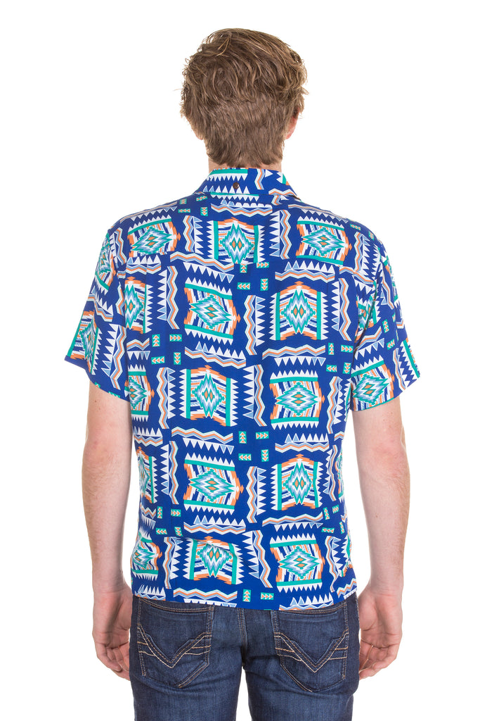 Mens blue hawaiian shirt