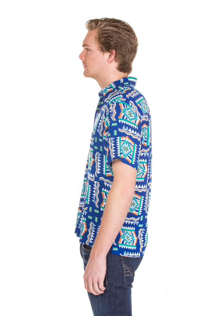 Blue hawaiian shirt for guys