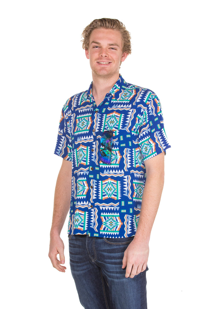 Button up blue hawaiian