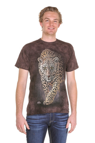 Mens Dyed Leopard print t shirt