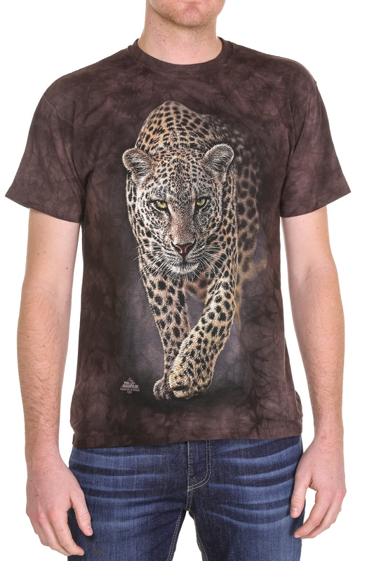 Leopard print gas station t shirt