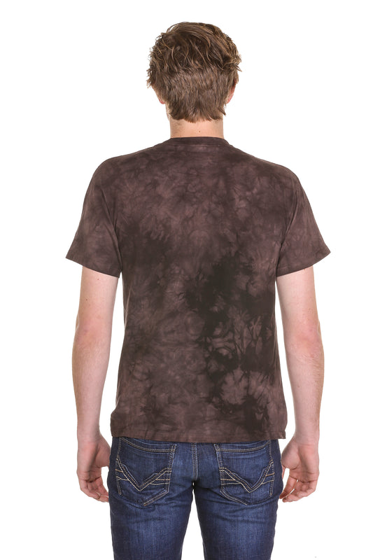 Acid wash leopard t shirt