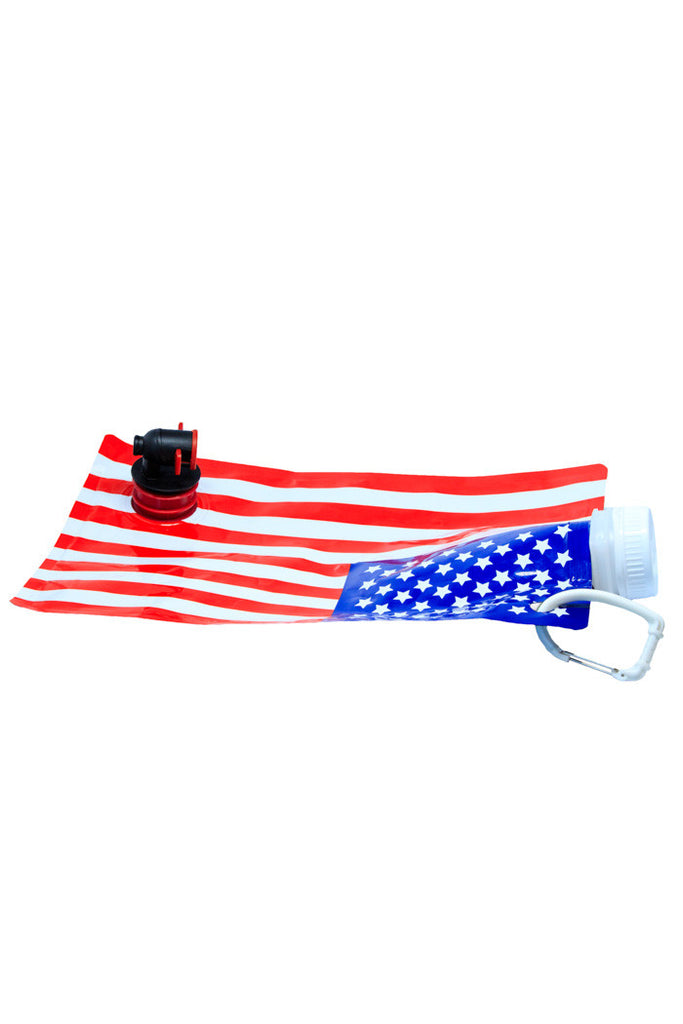 Freedom Tastes Like Booze Collapsible American Flag Flask - Shinesty