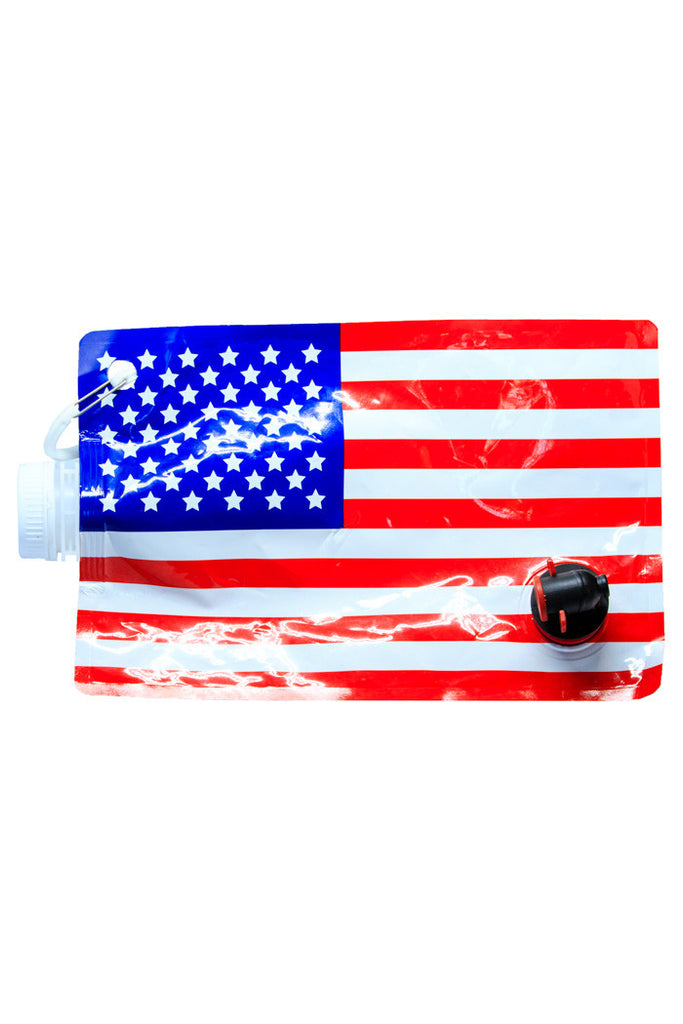 Freedom Tastes Like Booze Collapsible American Flag Flask