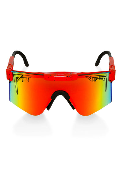 Red pit viper sunglasses