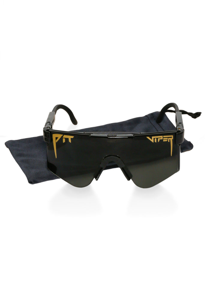 Black pit viper sunglasses for men
