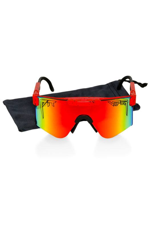 Men's Red pit viper shades