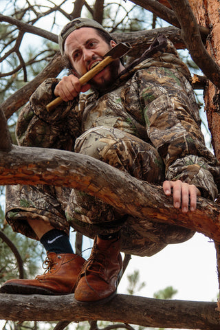 The Hunt-or-be-Hunted Realtree Camo Sleeping Bag Onesie - Shinesty