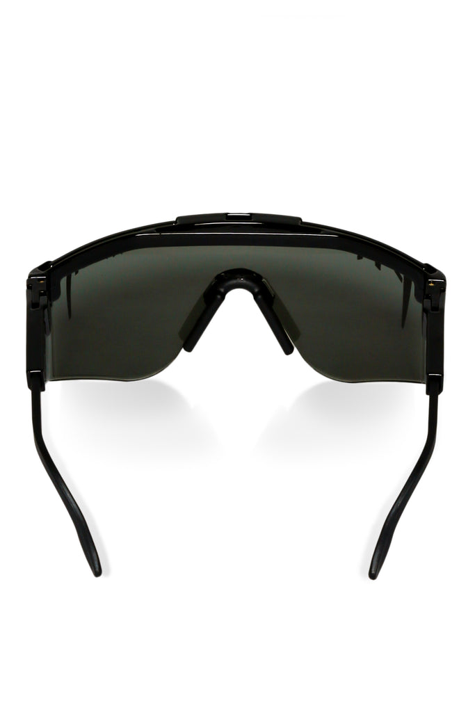 black lens sunglasses