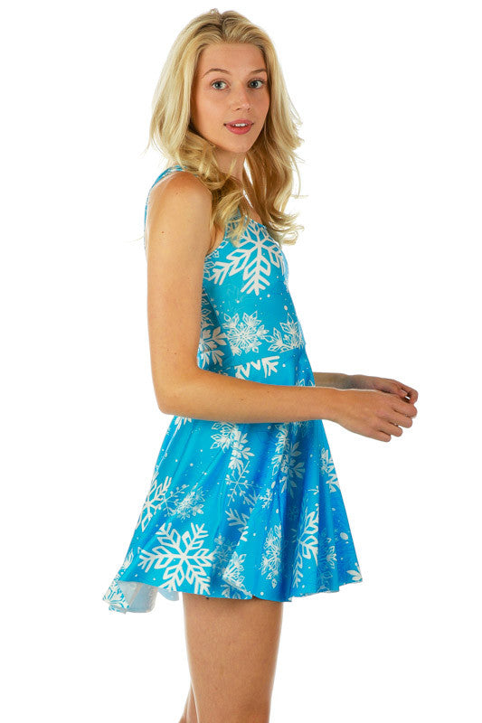 I Will Let It Go Snowflake Holiday Skater Dress