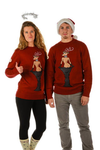 Ray J. and Kim K. Ugly Christmas Sweater - Shinesty