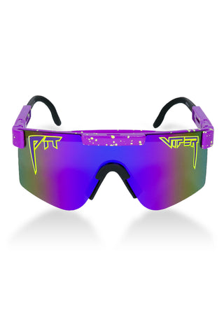Men's purple polarized pit viper sunglasses