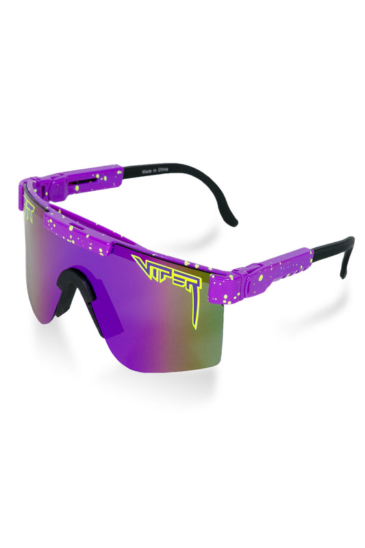 Men's purple pit viper sunglasses