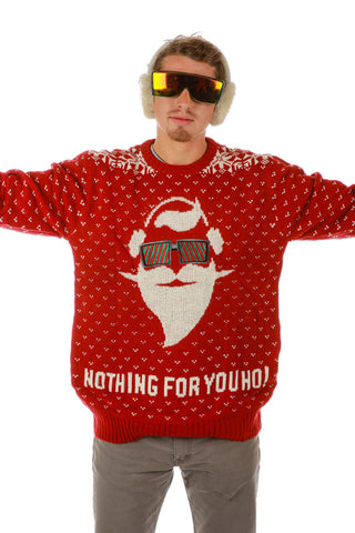 O.G. Santa Nothing For You Ho Ugly Christmas Sweater - Shinesty