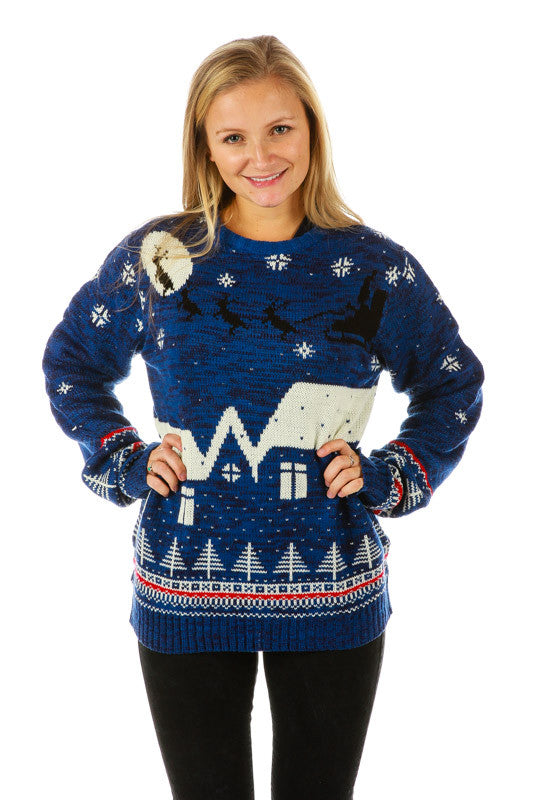 Gals Midnight Menage Ugly Christmas Sweater
