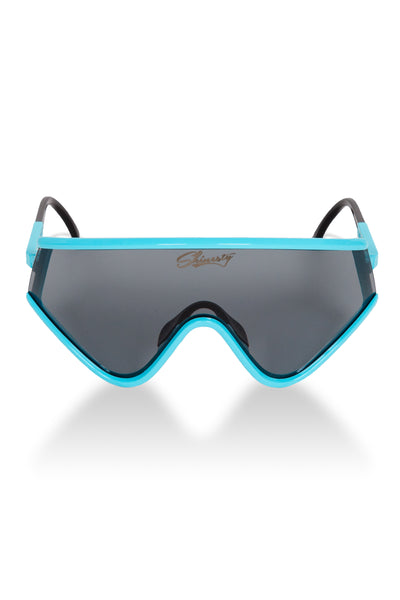 17ad6aeb52b3c Teal   Black Smoke 80s Ski Sunglasses