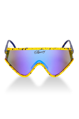 8985dde9da92 The Macho Man Randy Savage Yellow Spatter Sunglasses Polarized
