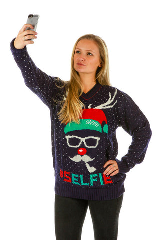 Ho Ho Humble Ugly Christmas Sweater - Shinesty