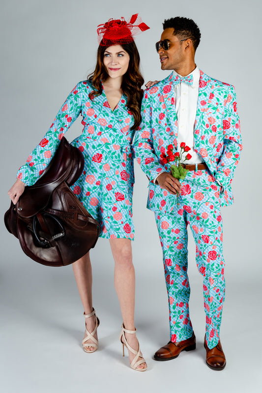 The Kentucky Fried Daily Double | Gingham Roses Derby Blazer