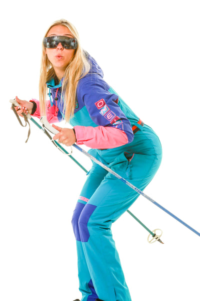 Ladies 80s one piece ski suit