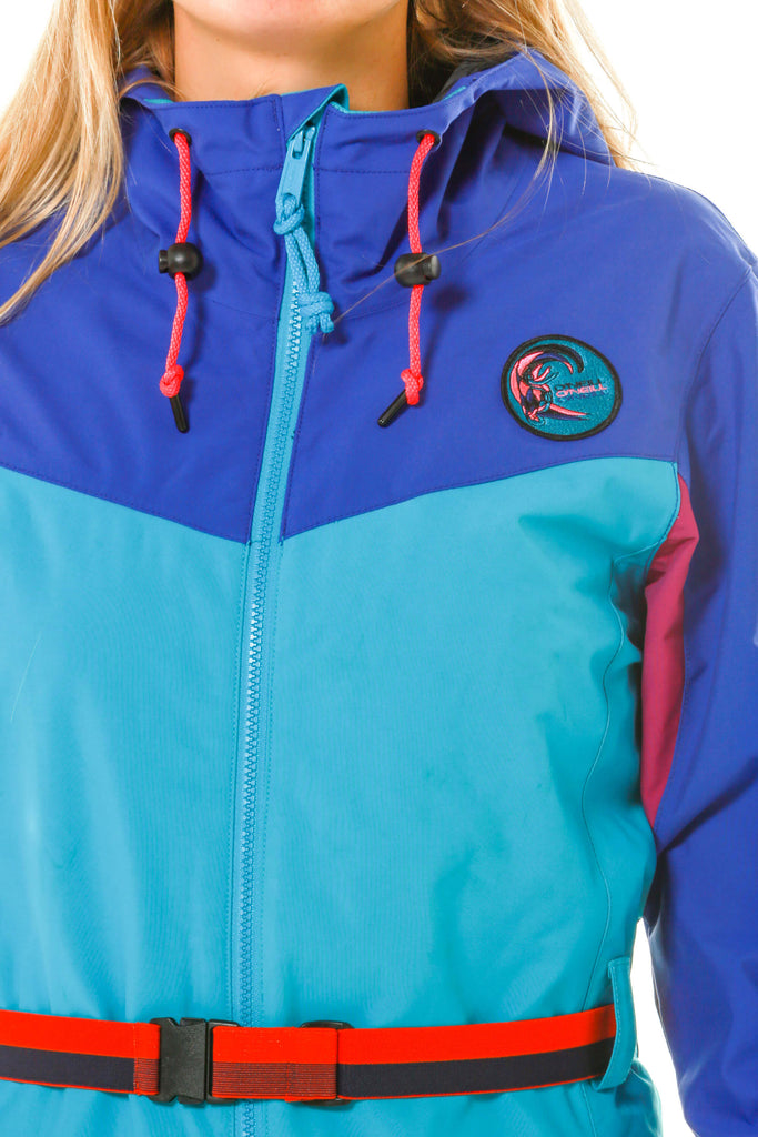 technical details for gals blue winter ski suit