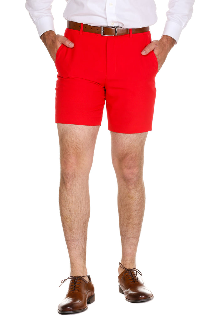 The Red Rockets | Red Suit Shorts