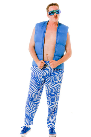 We don't even know this guy Men's Royal Blue and White Game Day Hammer Pants by Zubaz