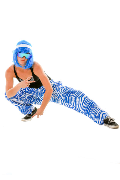 Look How Flexible Ladies Royal Blue and White Game Day Hammer Pants by Zubaz