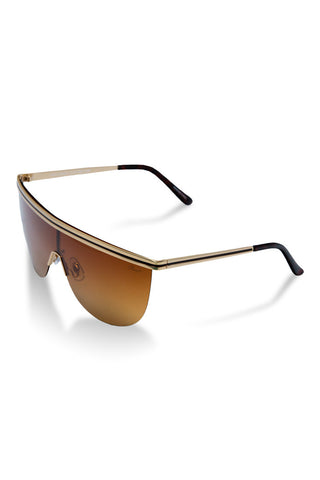 Men's matte gold polarized sunglasses