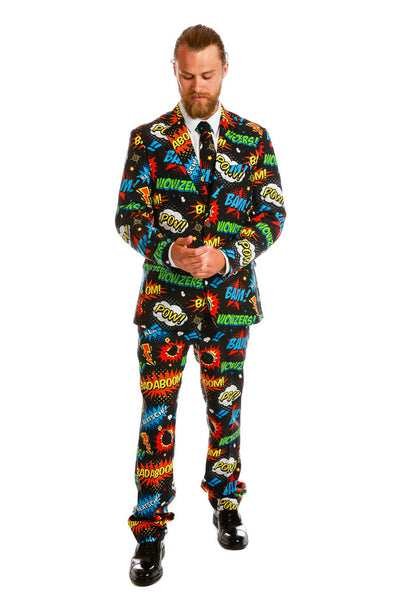 Comic Book Print Suit Turning Em Comic On Suit