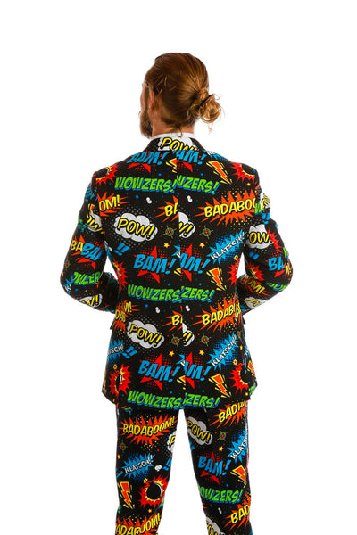 Rear View Comic Strip Suit
