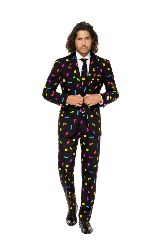 black tetris suit by opposuits