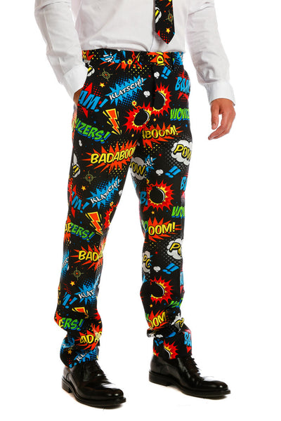 Men's Comic Book Suit Pants