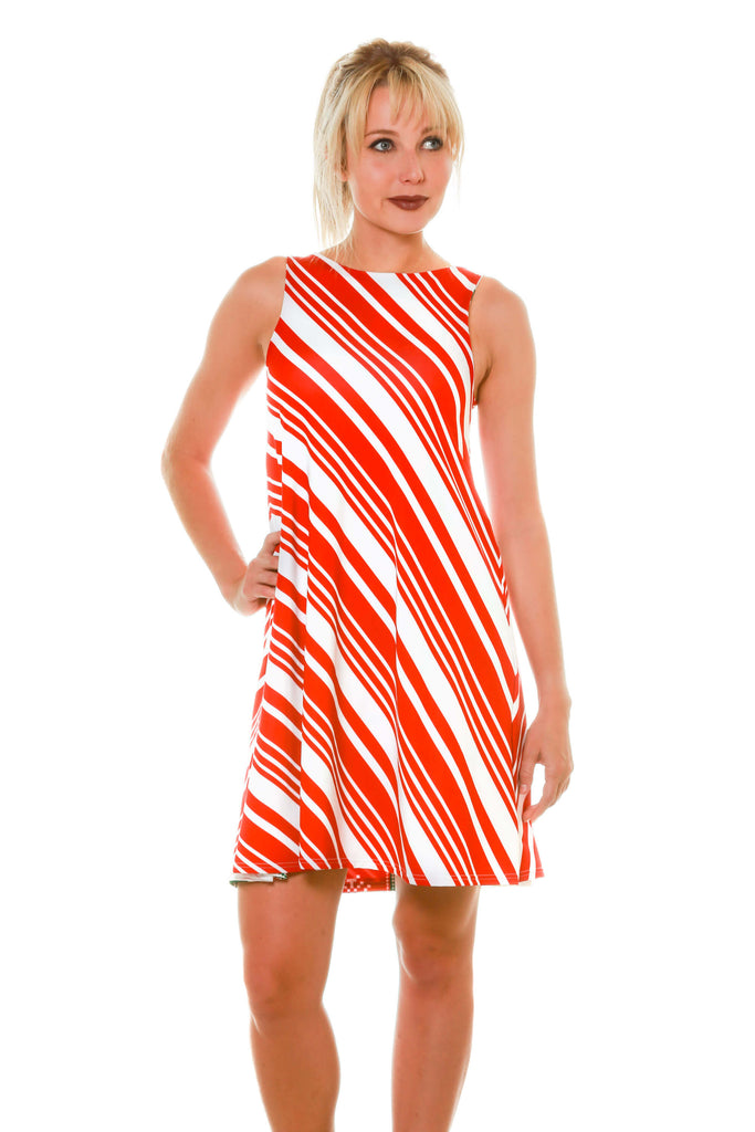 Candy Cane Women's Cute Holiday Dresses Christmas Themed Candy Cane Dresses