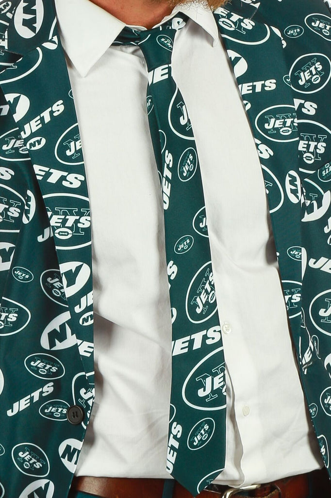 Men's Suit Tie Officially Licensed NFL Apparel New York Jets