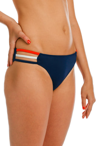 Hotter Than Annapolis in August Navy USA Bikini Bottoms - Shinesty