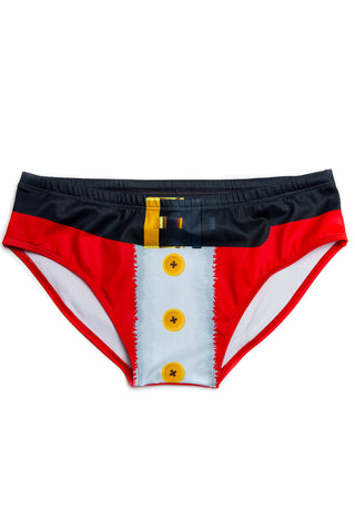 santa belt swim brief