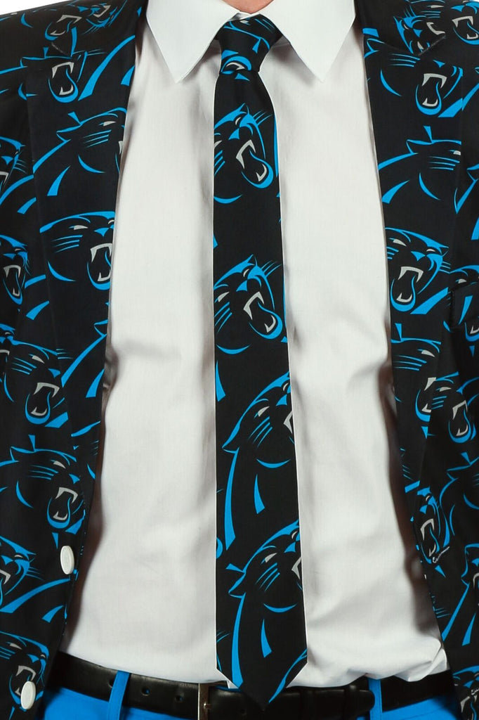 Men's Suit Tie Officially Licensed NFL Apparel Carolina Panters